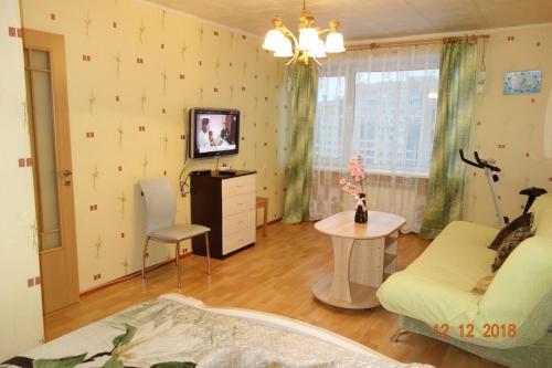 Гостиная зона в Apartment on Voskresenskaya 9