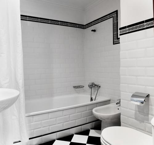 Ett badrum på Hotel Central Boutique