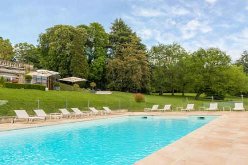 The swimming pool at or near Domaine de la Tortinière