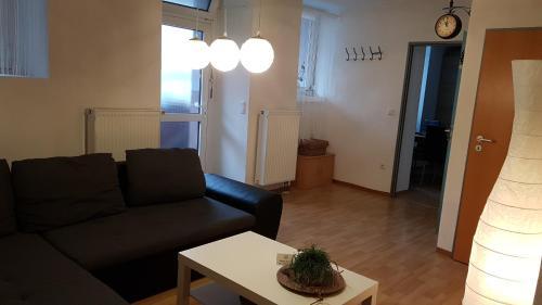 Ein Sitzbereich in der Unterkunft Schneckenhaus