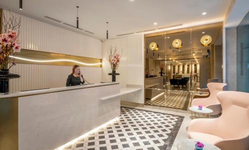 O saguão ou recepção de The Morgan Hotel