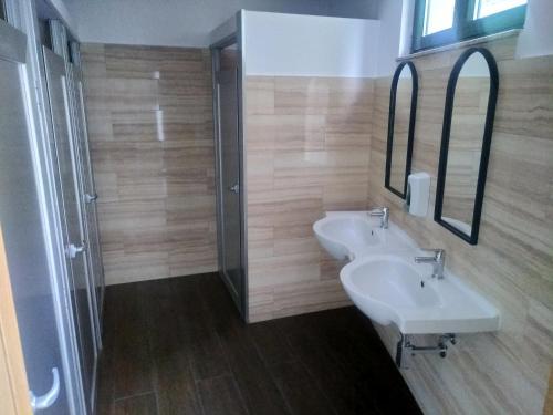 A bathroom at Albergue O Logoso