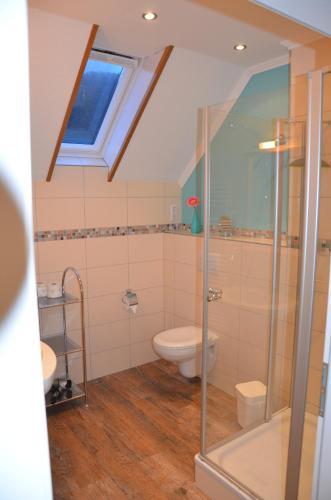 Een badkamer bij Ferienweingut Gansen