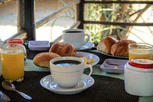 Opciones de desayuno disponibles en Punta Pacífico Bungalows