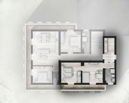 Grundriss der Unterkunft HILLSIDE Apartments Pircher