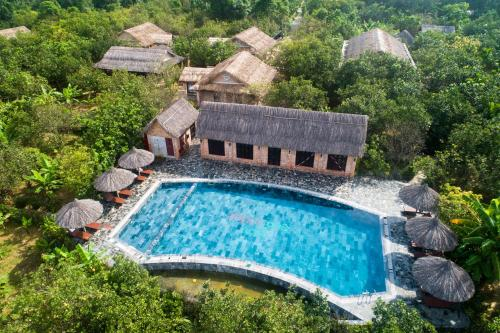 A view of the pool at Hue Ecolodge or nearby