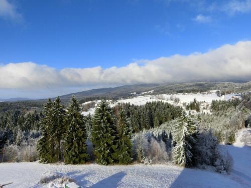 Haus Bergland im Winter