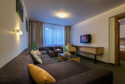Posezení v ubytování Hotel Diery