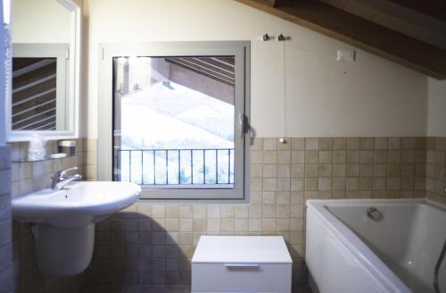 A bathroom at Agriturismo Ben Ti Voglio