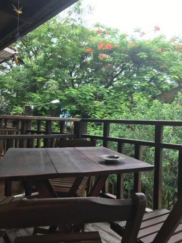 A balcony or terrace at Buganville Loft