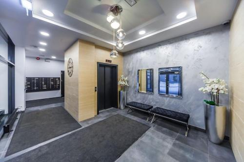 The lobby or reception area at Karlson Lux Apartments