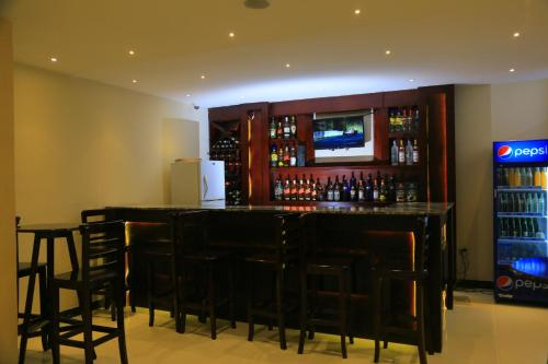 The lounge or bar area at Kerawi international hotel