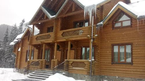 Hotel Desatka during the winter