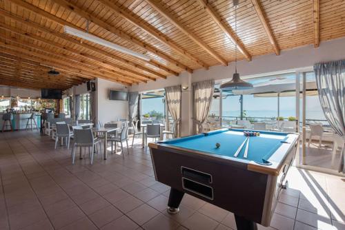 A billiards table at Nissaki Sea View