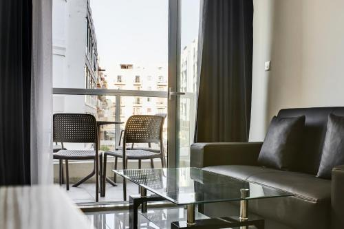 A seating area at The Village Apartments
