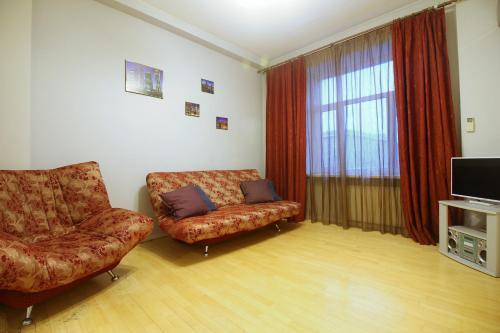 Гостиная зона в Business Apartment Moskva-city