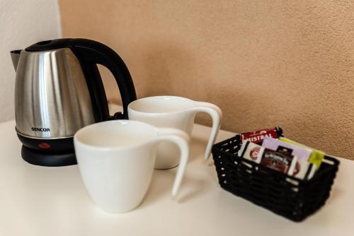 Príslušenstvo na prípravu kávy alebo čaju v ubytovaní AeroCafe