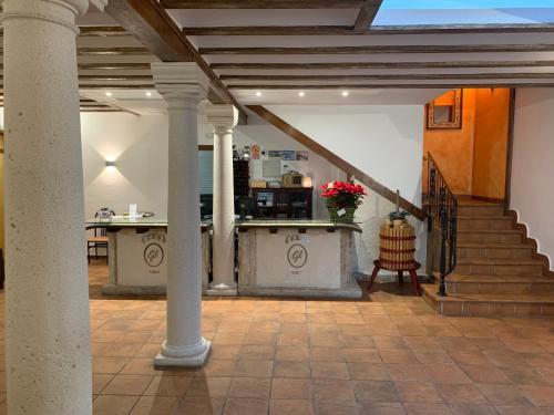 El vestíbulo o zona de recepción de Hostal El Palomar