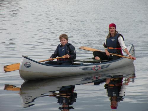 Canoeing at the apartment or nearby