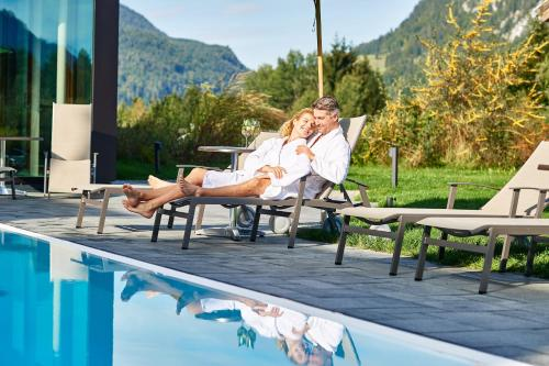 The swimming pool at or near Hotel Oberstdorf