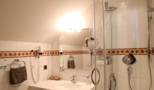 Ein Badezimmer in der Unterkunft Oberstdorfer Einkehr