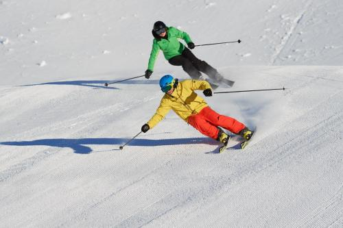 Skiing at the hostel or nearby