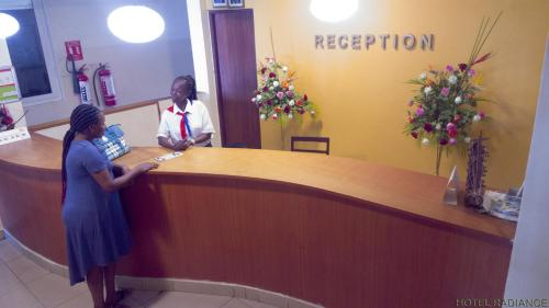 The lobby or reception area at Hotel Radiance