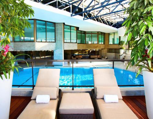 The swimming pool at or near DoubleTree By Hilton Montreal