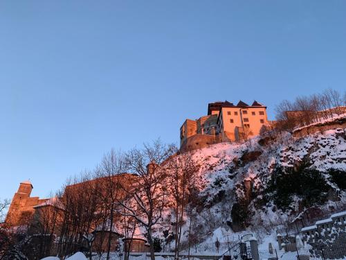 Hotel Pod Hradom v zime