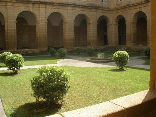 A garden outside Parador de Sto. Domingo Bernardo de Fresneda
