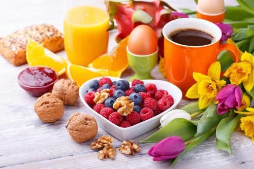 Frühstücksoptionen für Gäste der Unterkunft KEMPE Komfort Hotel