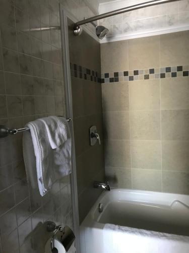 A bathroom at Oreland Motel