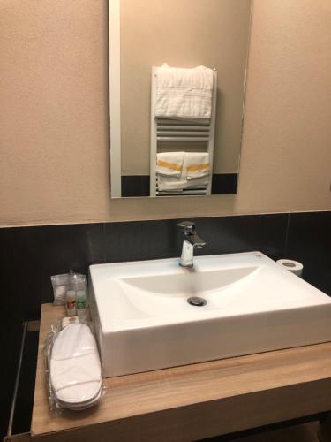 A bathroom at Albergo Tre Pozzi