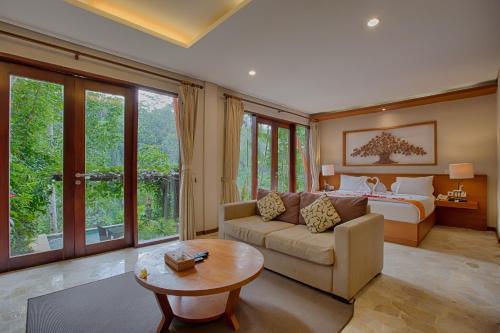 A seating area at Anahata Villas and Spa Resort