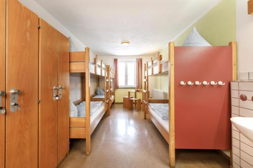 A bunk bed or bunk beds in a room at Jugendherberge Oberstdorf