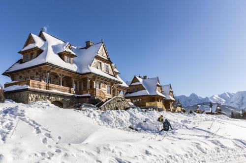 Obiekt Smrekowe Domki zimą