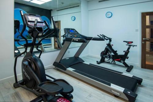 The fitness center and/or fitness facilities at Wessex Hotel