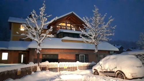 Haus Bellevue during the winter