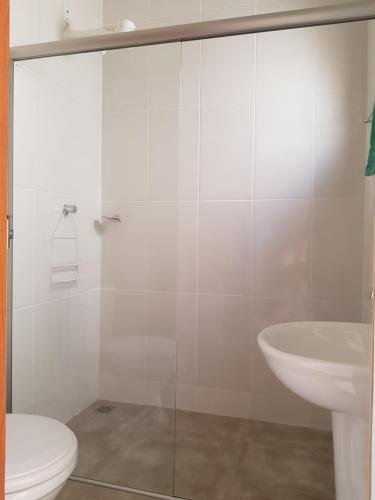 Um banheiro em Pousada Sao Caetano