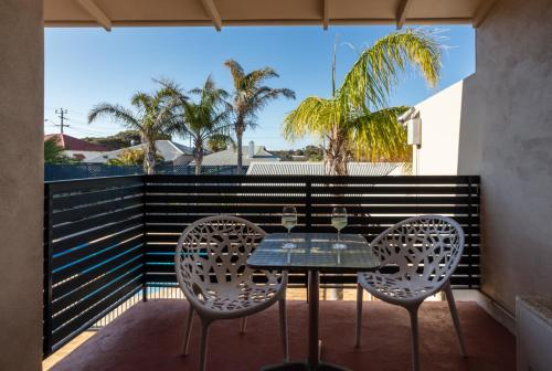 A balcony or terrace at Sails Geraldton Accommodation