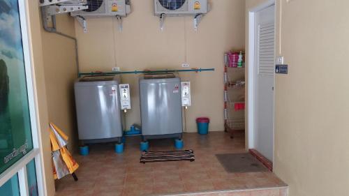 A kitchen or kitchenette at Palm Kaew Resort Krabi