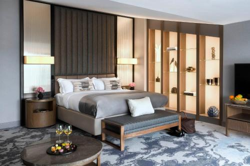 A bed or beds in a room at InterContinental Sofia, an IHG Hotel