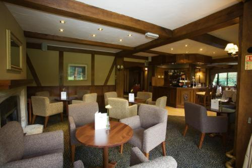 The lounge or bar area at Cisswood House