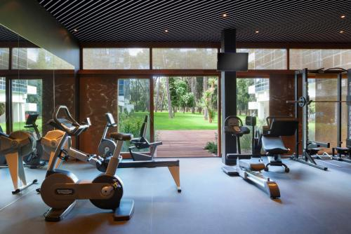 The fitness center and/or fitness facilities at Hotel Eden