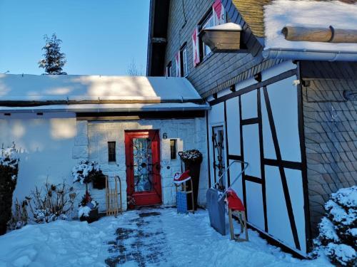 Haus Schneekappe (Winterberg) during the winter