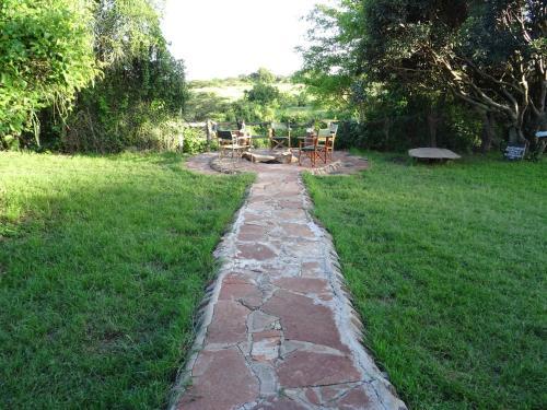 A garden outside Crocodile Camp-Masai Mara