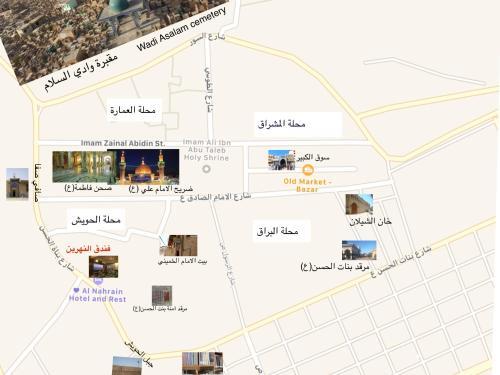 The floor plan of Al Nahrain Hotel