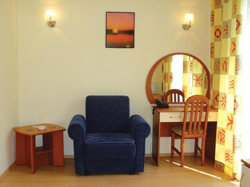 A seating area at Druzhba Hotel