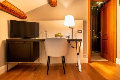 Cuisine ou kitchenette dans l'établissement Hotel Grande Italia