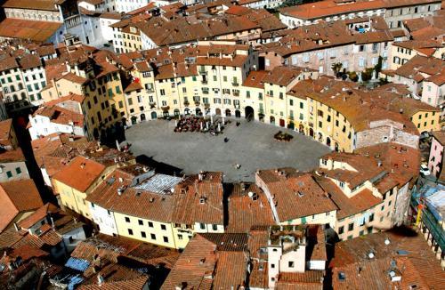 Vista aerea di Relais Villa Poschi